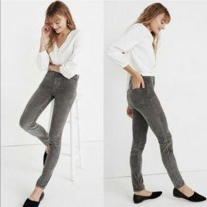 "NWOT Madewell 10"" High-Rise Skinny Jeans Corduroy"